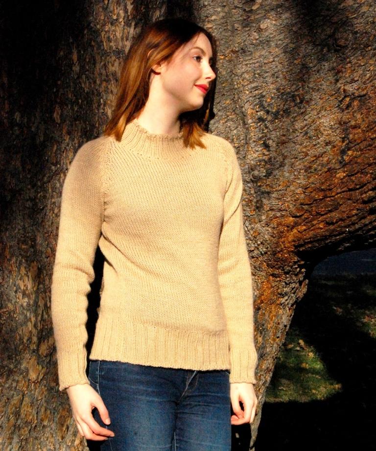 maglione collo alto donna lana di alpaca